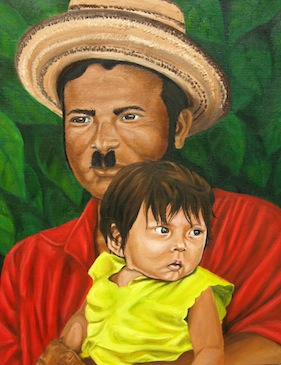 Panamanian Father and Child - 1986
