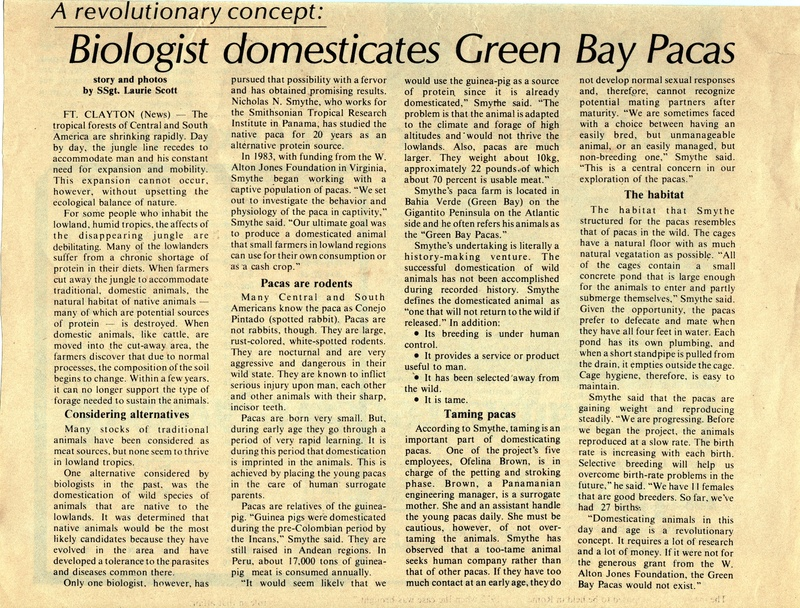 Science: Green Bay Pacas, Tropic Times